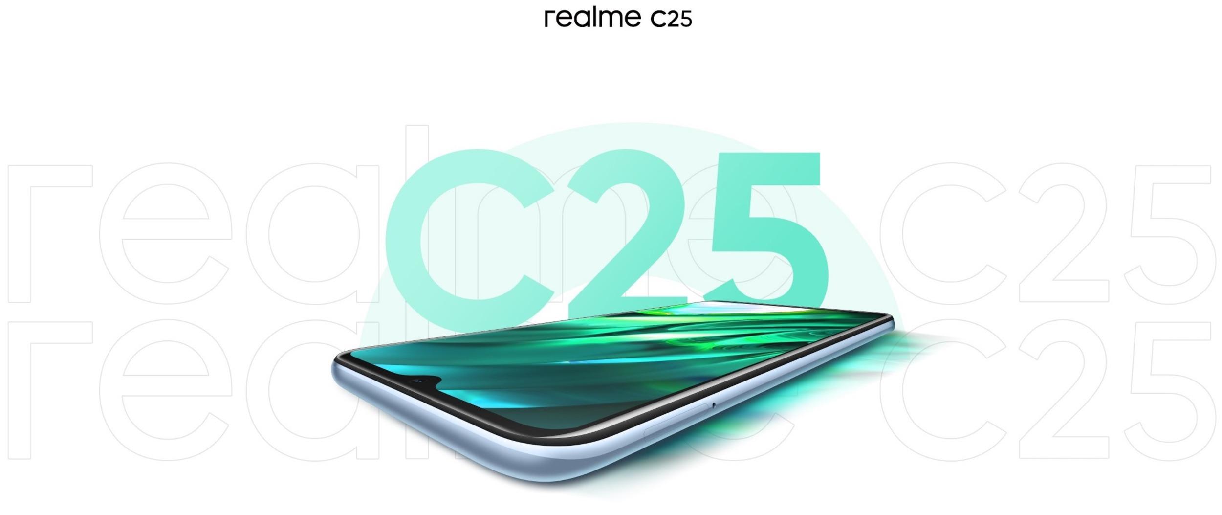 Realme C25 se začíná odkrývat