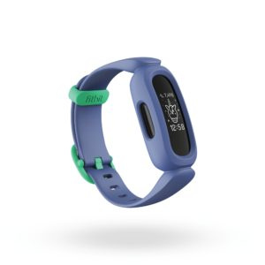 Fitbit Ace 3 Render 3QTR Core Cosmic Blue Astro Green Clock Default Shadow 2000x2000x