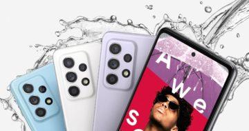 Samsung Galaxy A52 a Samsung Galaxy A52 5G; Zdroj: Samsung