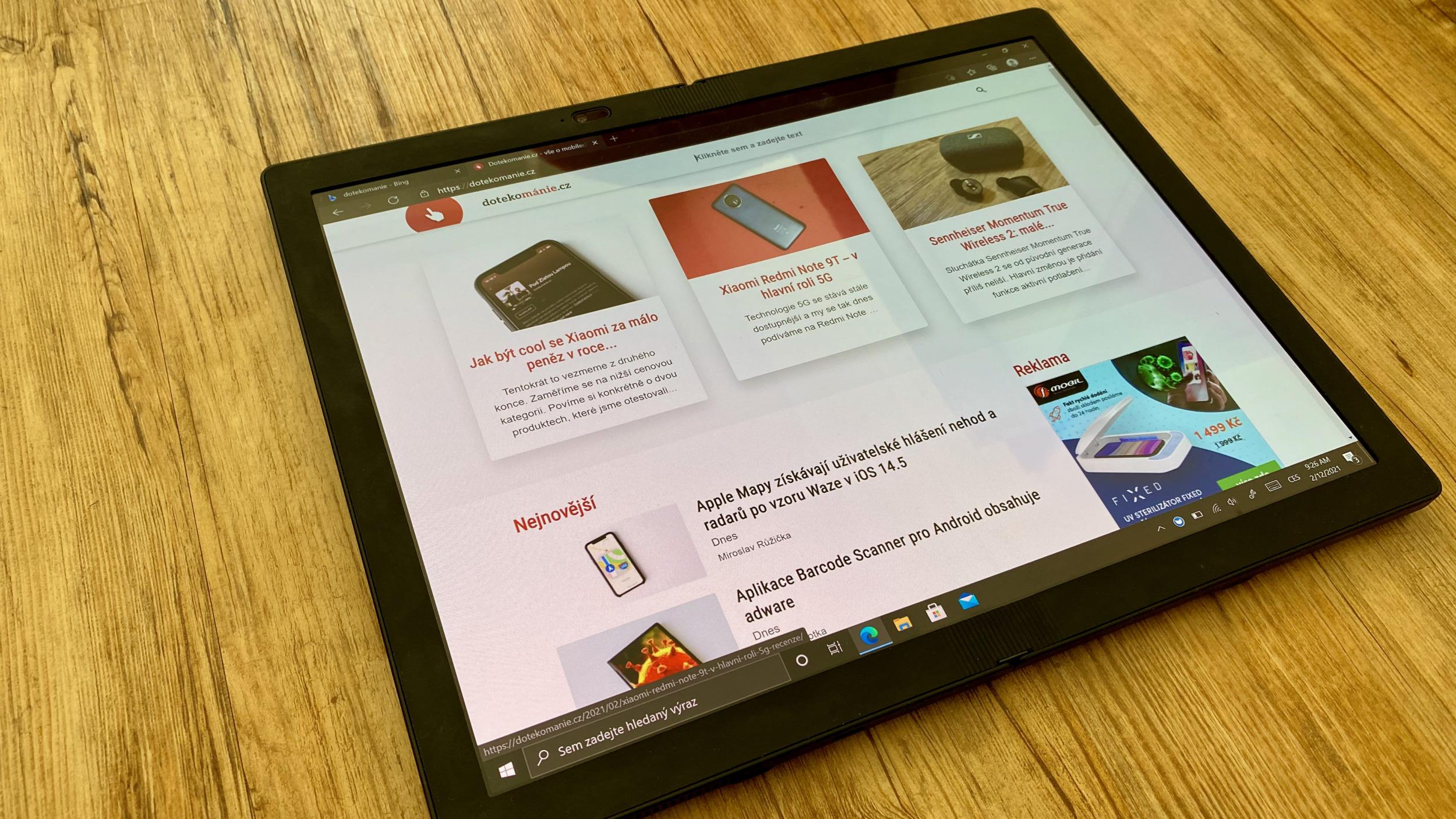 Lenovo ThinkPad X1 Fold – revoluční zařízení s ohýbatelným displejem [recenze]