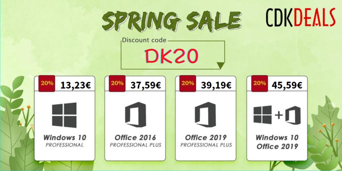 Jarní kalamita slev je tady! Windows 10 nyní jen za 11.89 EUR [sponzorovaný článek]