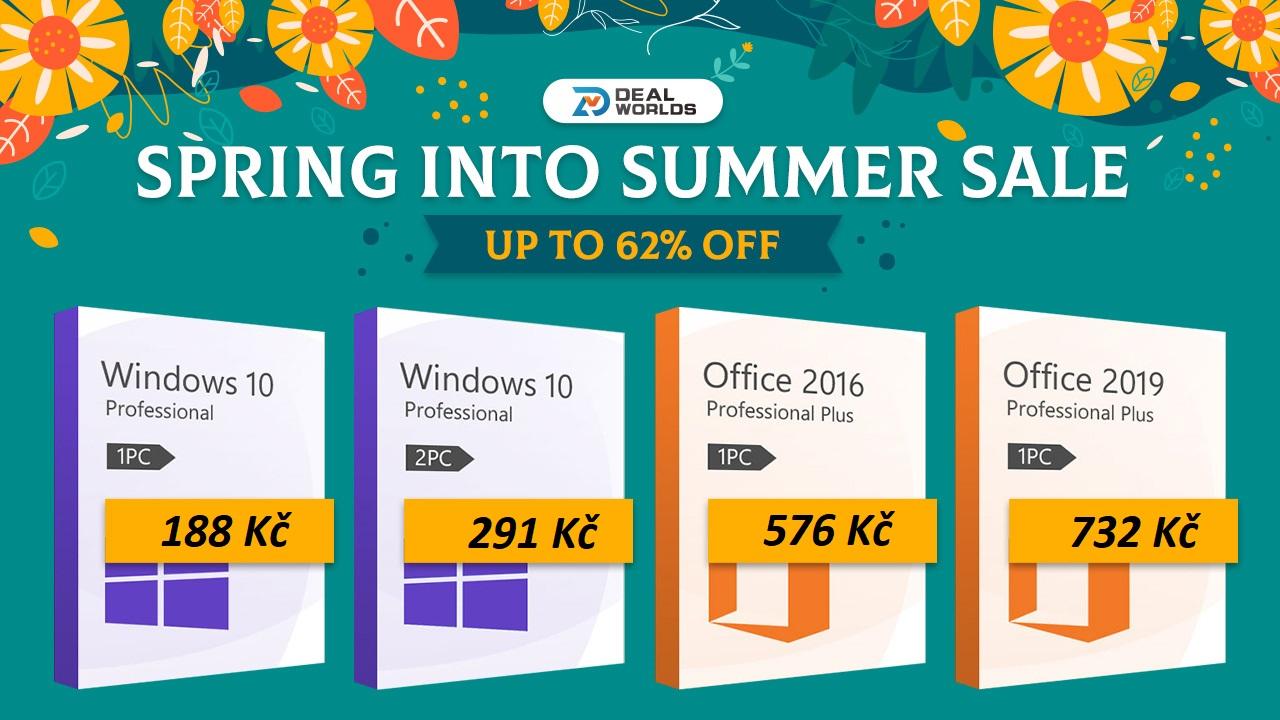 Léto se blíží a s ním přicházejí bombastické slevy na produkty Microsoft v obchodě Dealworlds.com [sponzorovaný článek]