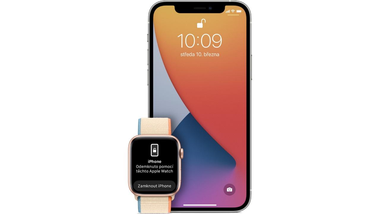Jak nastavit a odemykat iPhone s nasazenou rouškou pomocí Apple Watch [návod]