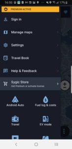 SDK app menu dark mode 1440x2960x