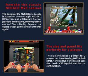 SNK MVSX Arcade Machine 50 SNK Classic Games 429680 7 1000x862x