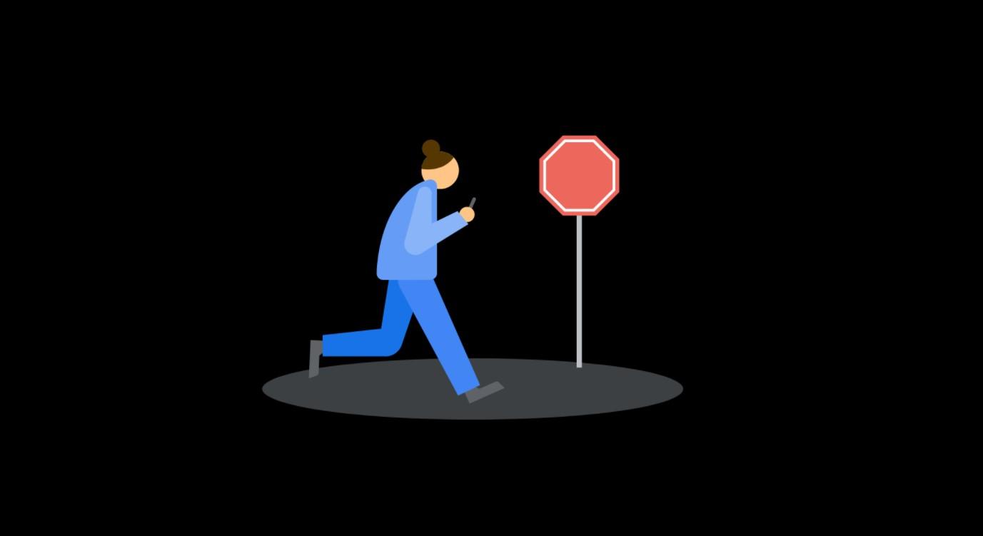 Digitální rovnováha získává varování pro chůzi