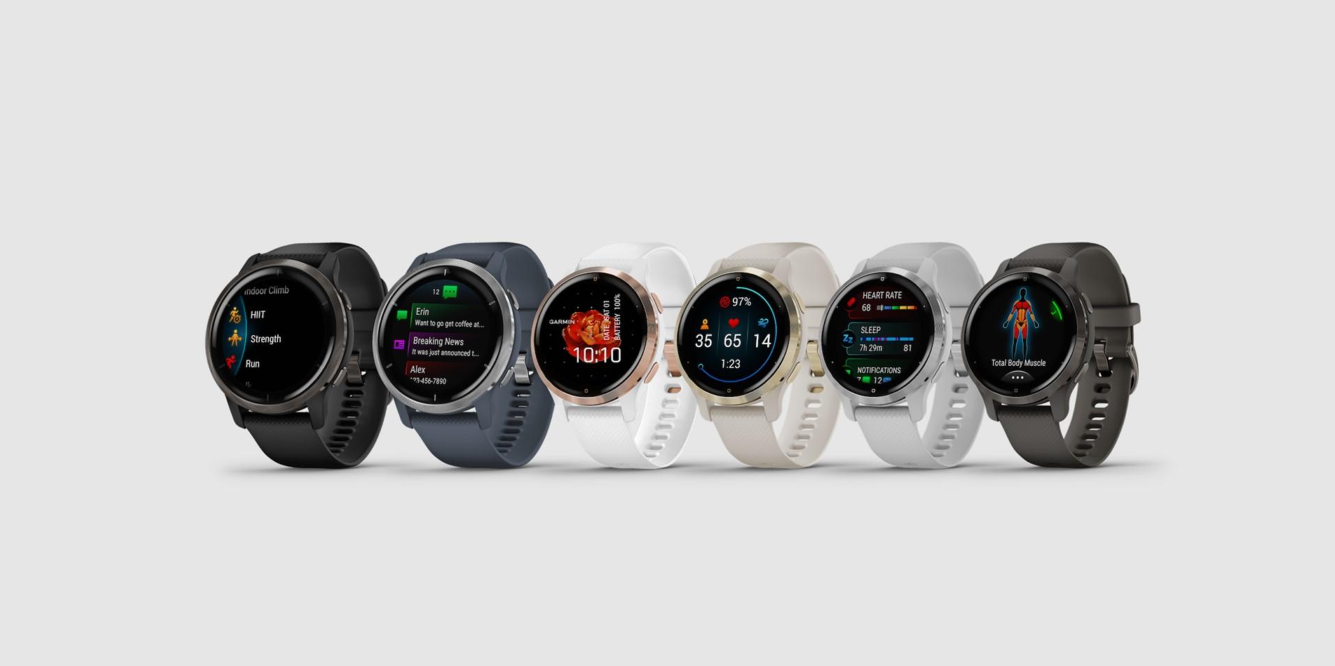 Garmin Venu 2S a 2 jsou nové chytré hodinky