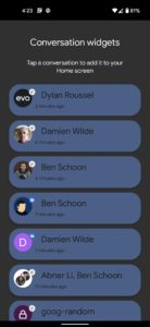 android 12 conversations widget convo list 1080x2340x