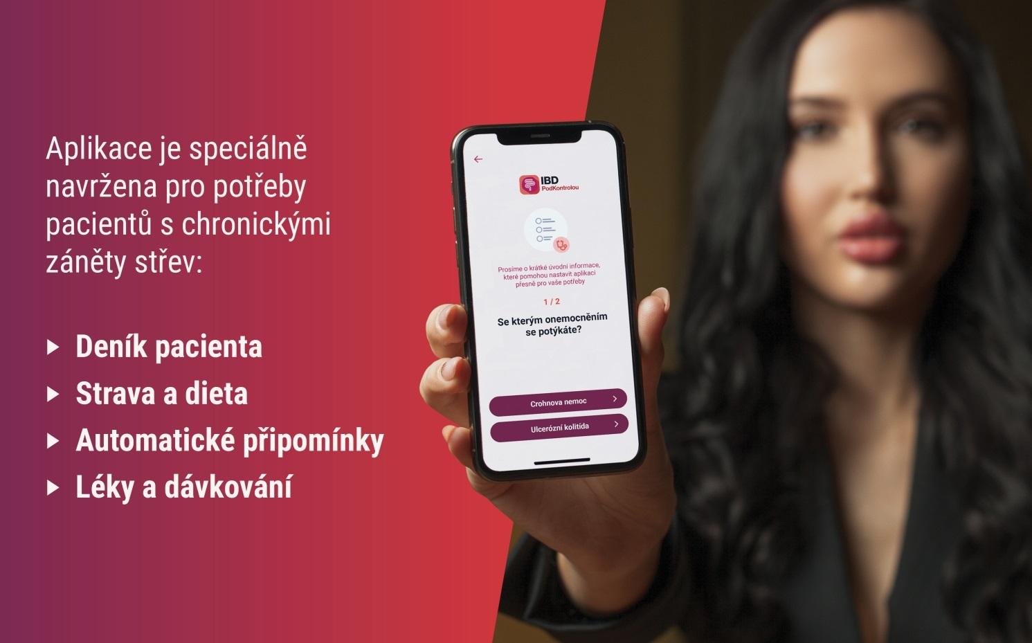 Nově je dostupná aplikace IBD Pod Kontrolou, která pomáhá pacientům sCrohnem a ulcerózní kolitidou