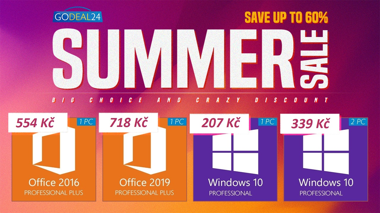 Letní slevy na produkty Microsoft jsou tady. Využijte skvělé nabídky se slevou až 60 % [sponzorovaný článek]