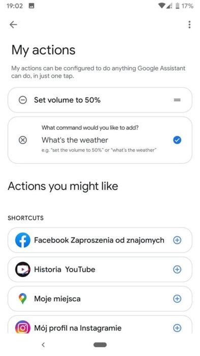 Google Assistant My Actions settings screen 576x1024 576x1024x