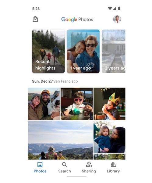 Google Photos UI changes 499x600x