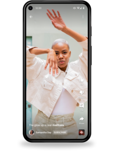 Sledovani Shorts v mobilni aplikaci 2166x2889x