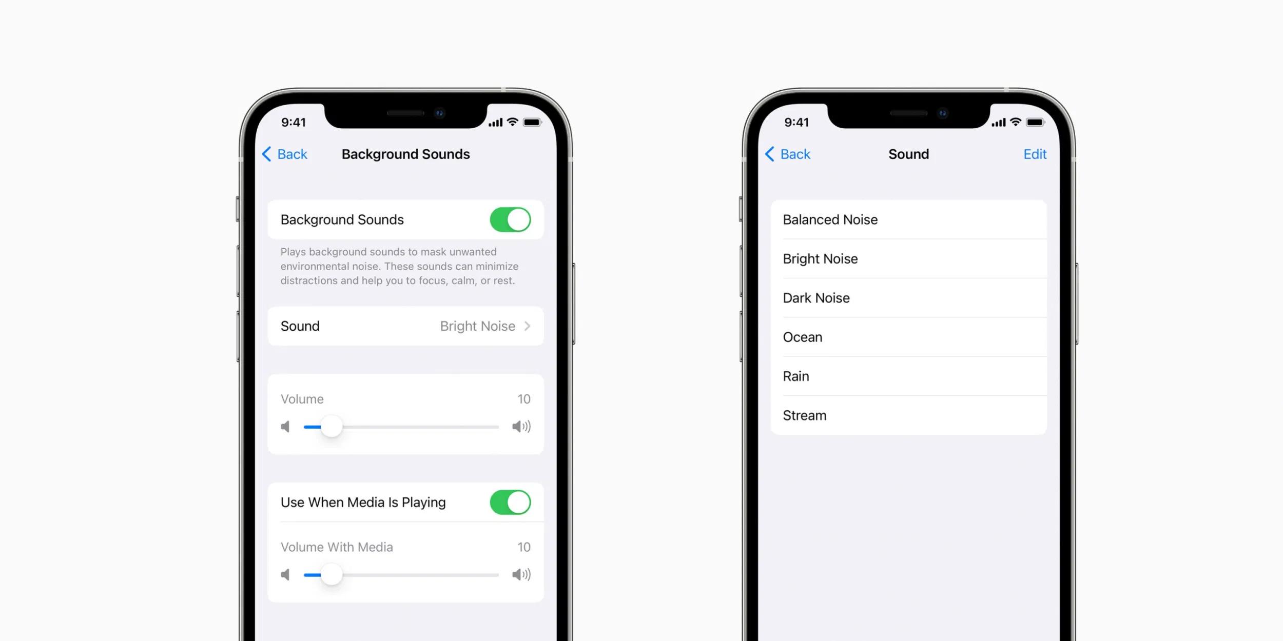 Apple chystá novou funkci Zvuky na pozadí