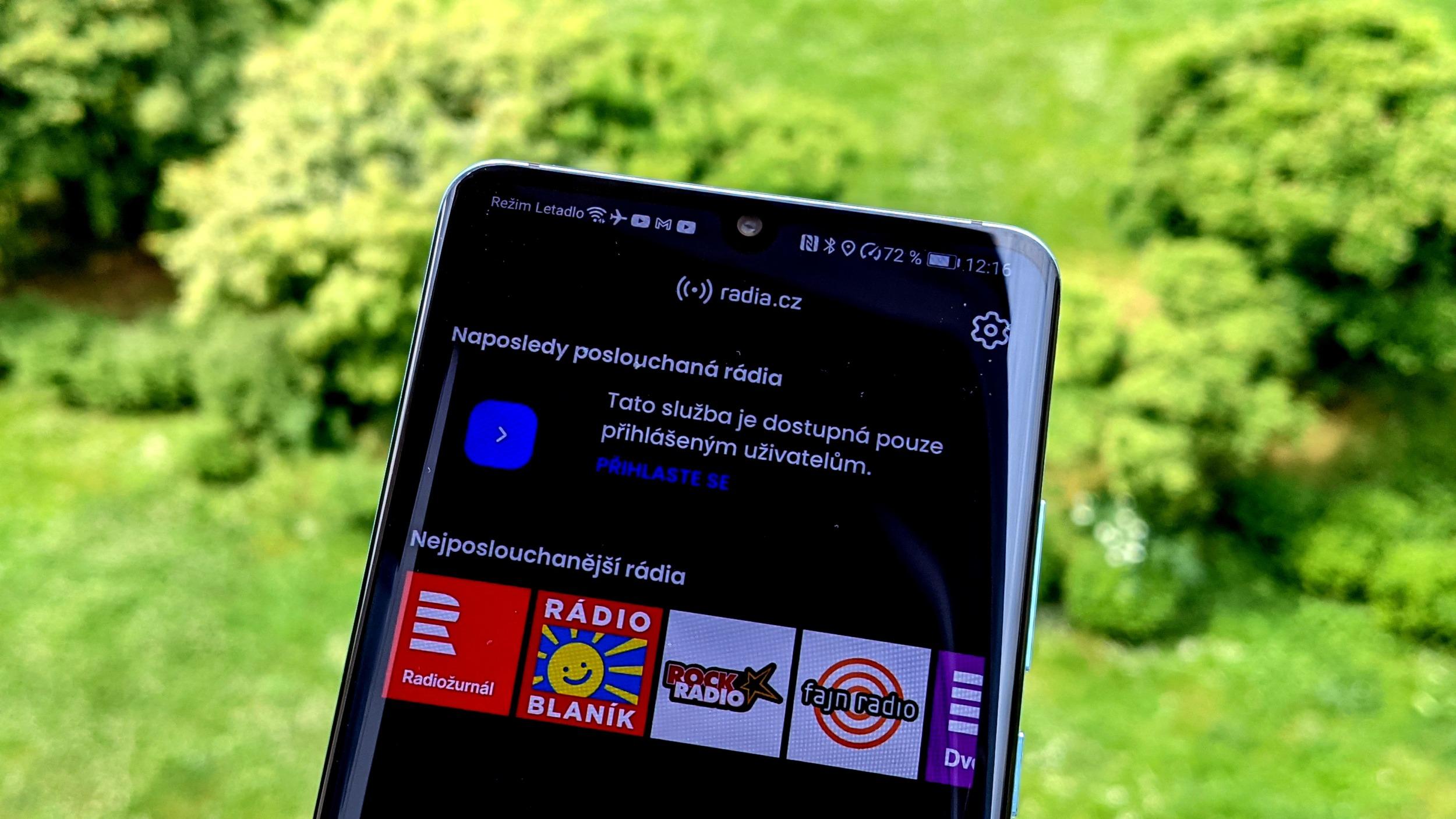 Nová verze aplikace Radia.cz spotřebovává jen polovinu dat