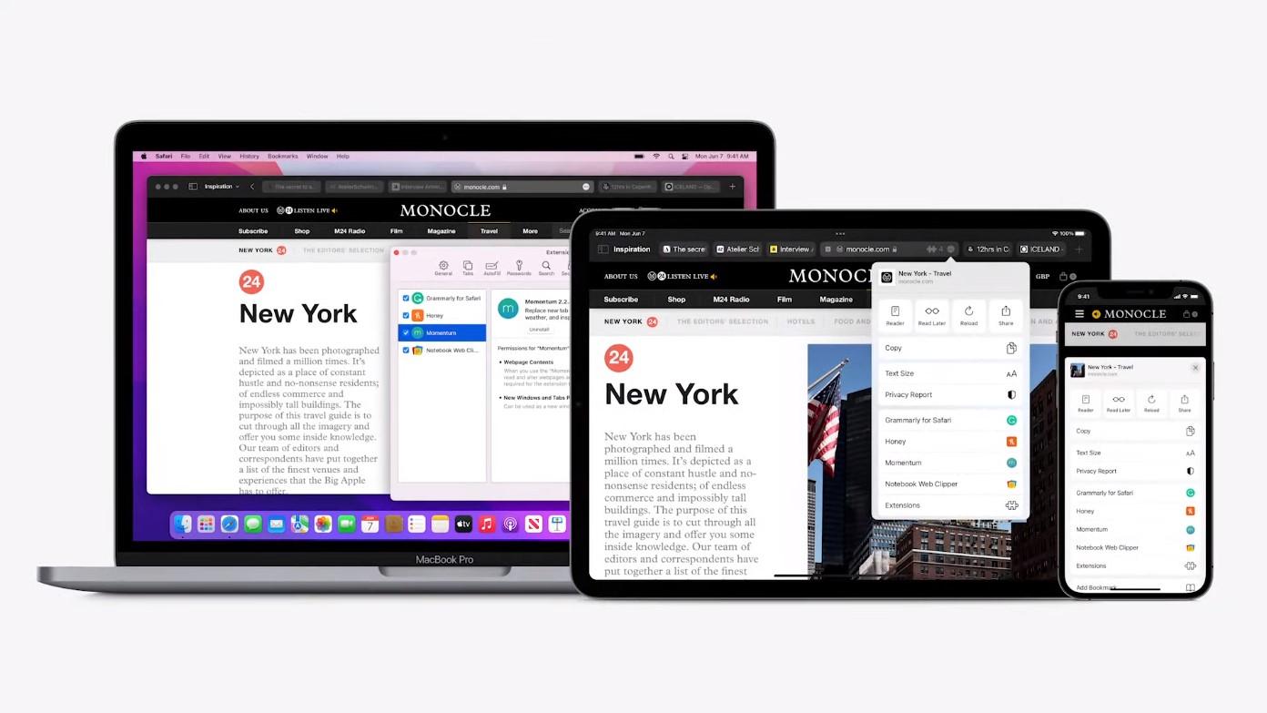 Safari pro iOS a iPadOS podporuje rozšíření prohlížeče
