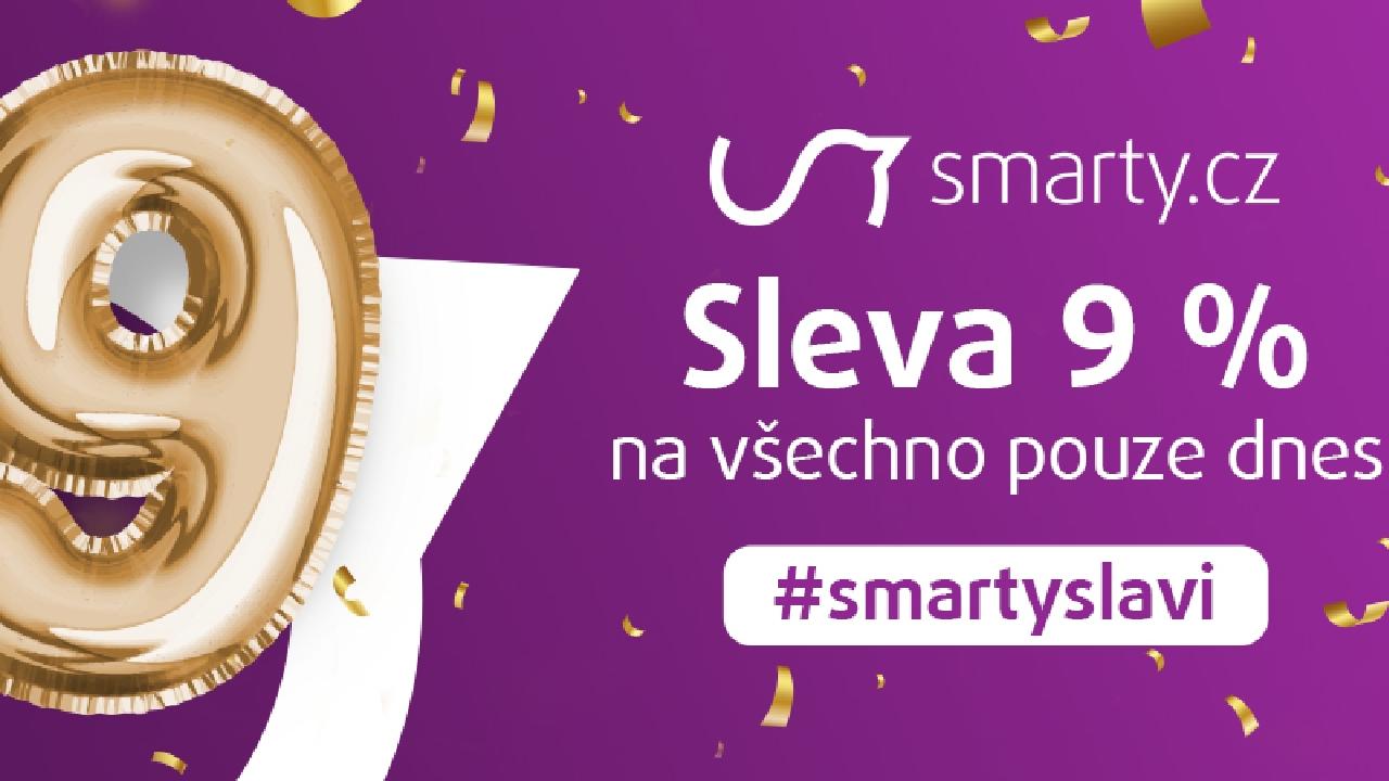Smarty.cz slaví narozeniny a pouze dnes rozdává slevu 9 % na všechno![sponzorovaný článek]