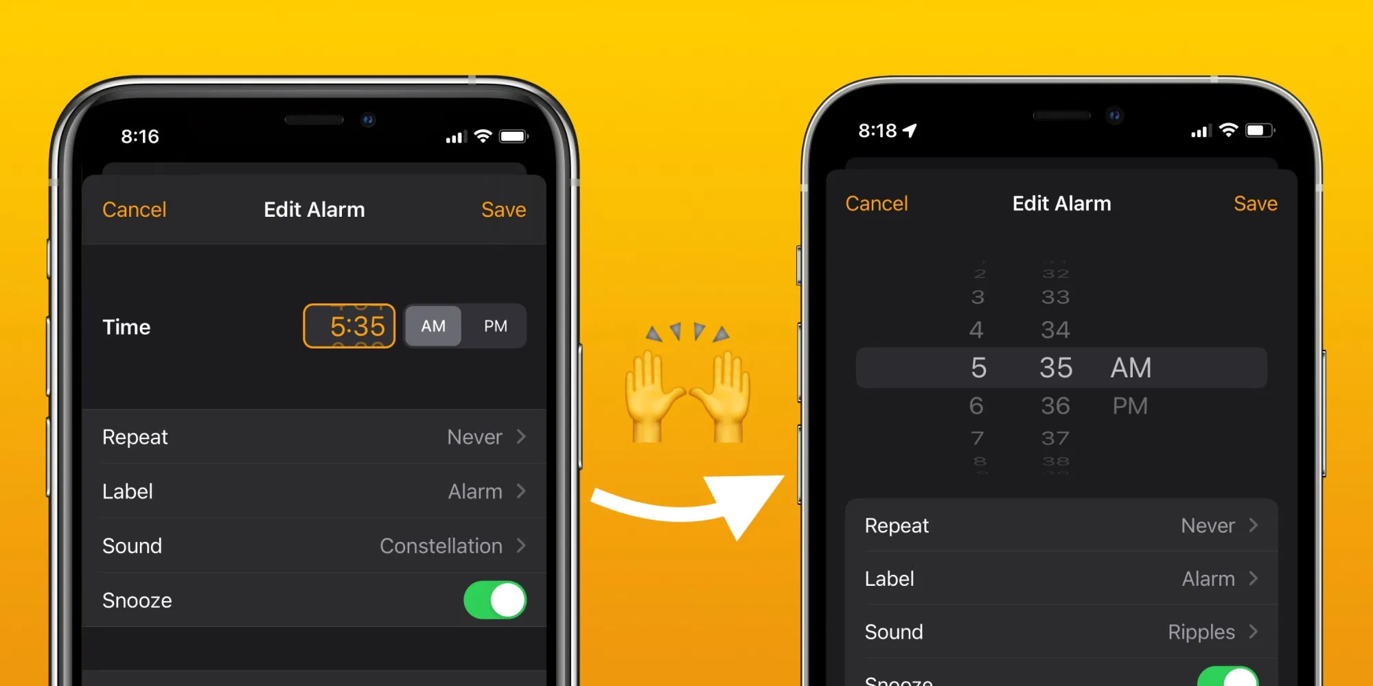 iOS 15 se vrací ke starému výběru číselných hodnot