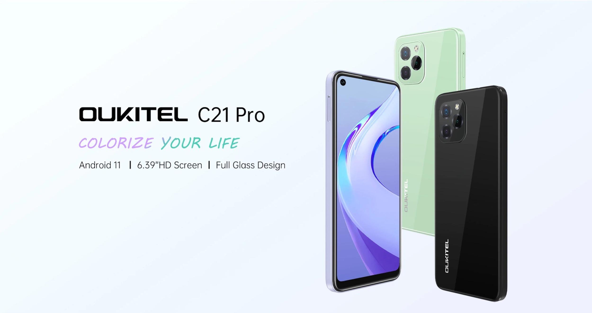 Oukitel představil levný telefon C21 Pro