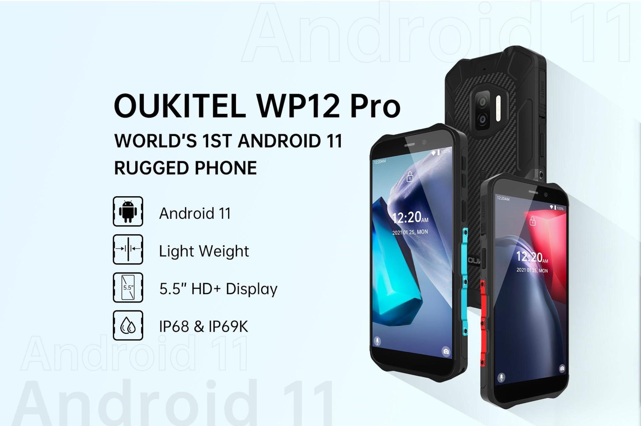 Odolný Oukitel WP12 Pro vynikne svou lehkostí
