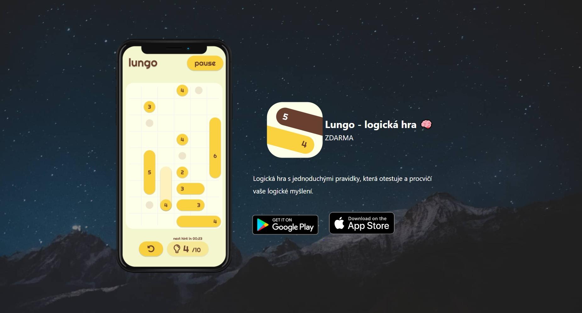 Lungo je česká hra pro procvičení mozkových dovedností