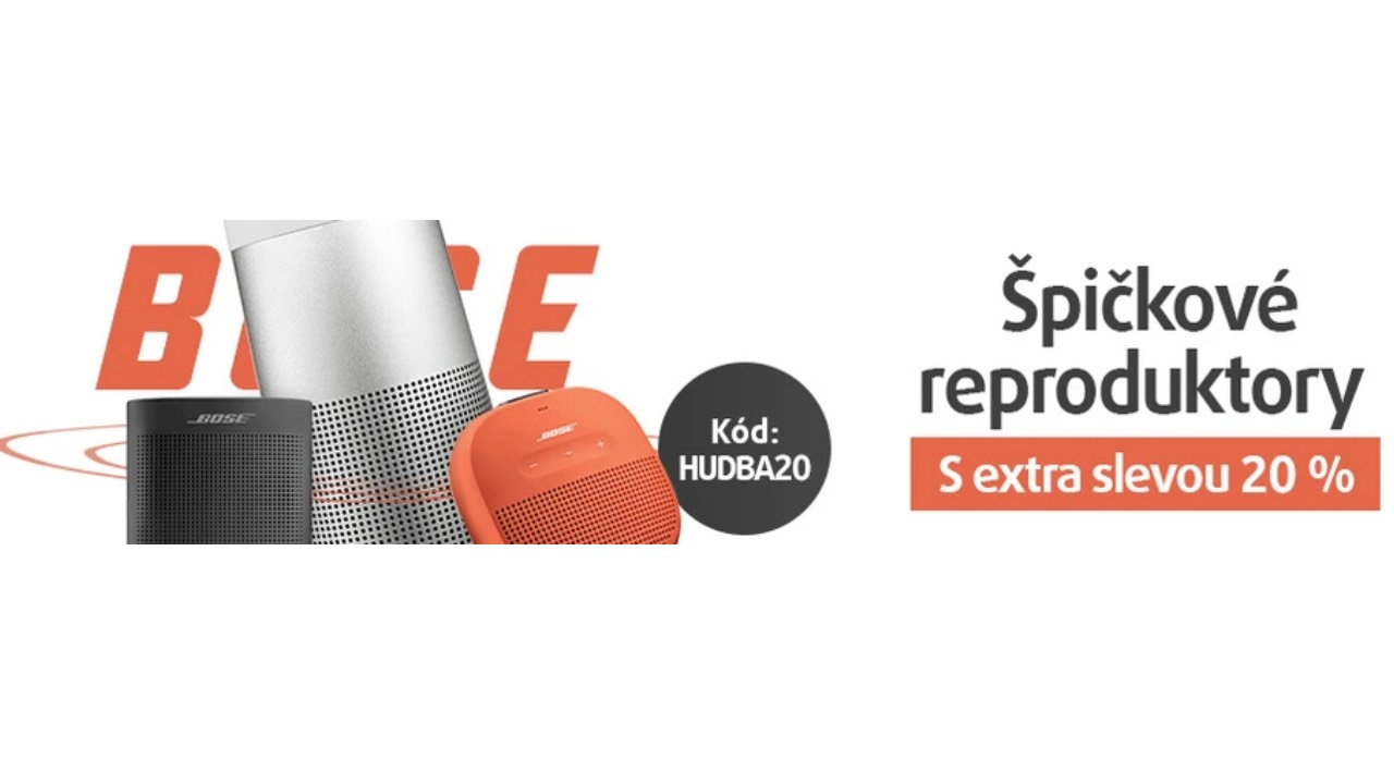 Bose week na smarty.cz. Využijte 20% slevu na skvělé reproduktory [sponzorovaný článek]