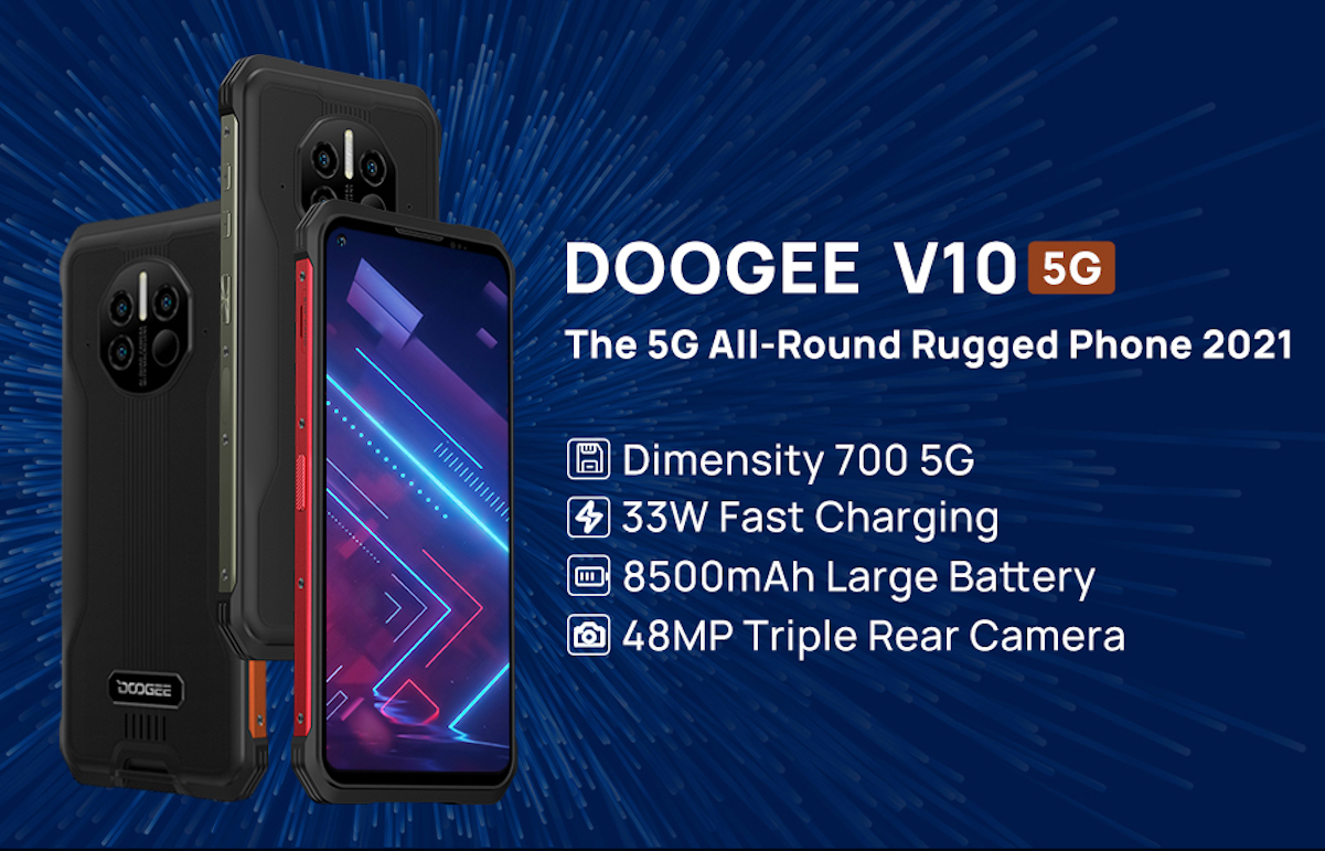 Odolný Doogee V10 bude vynikat podporou 5G sítí