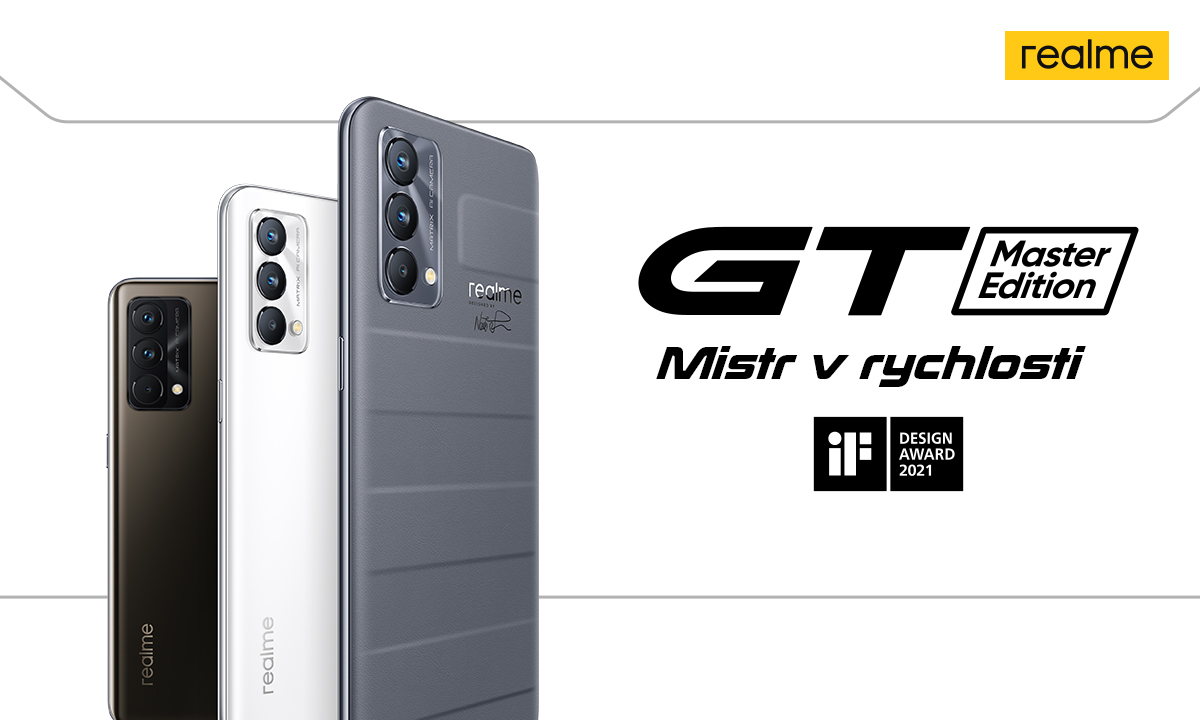 Realme GT Master Edition – mistr v rychlosti o tisícovku levněji, jen do zítřejší půlnoci! [sponzorovaný článek]