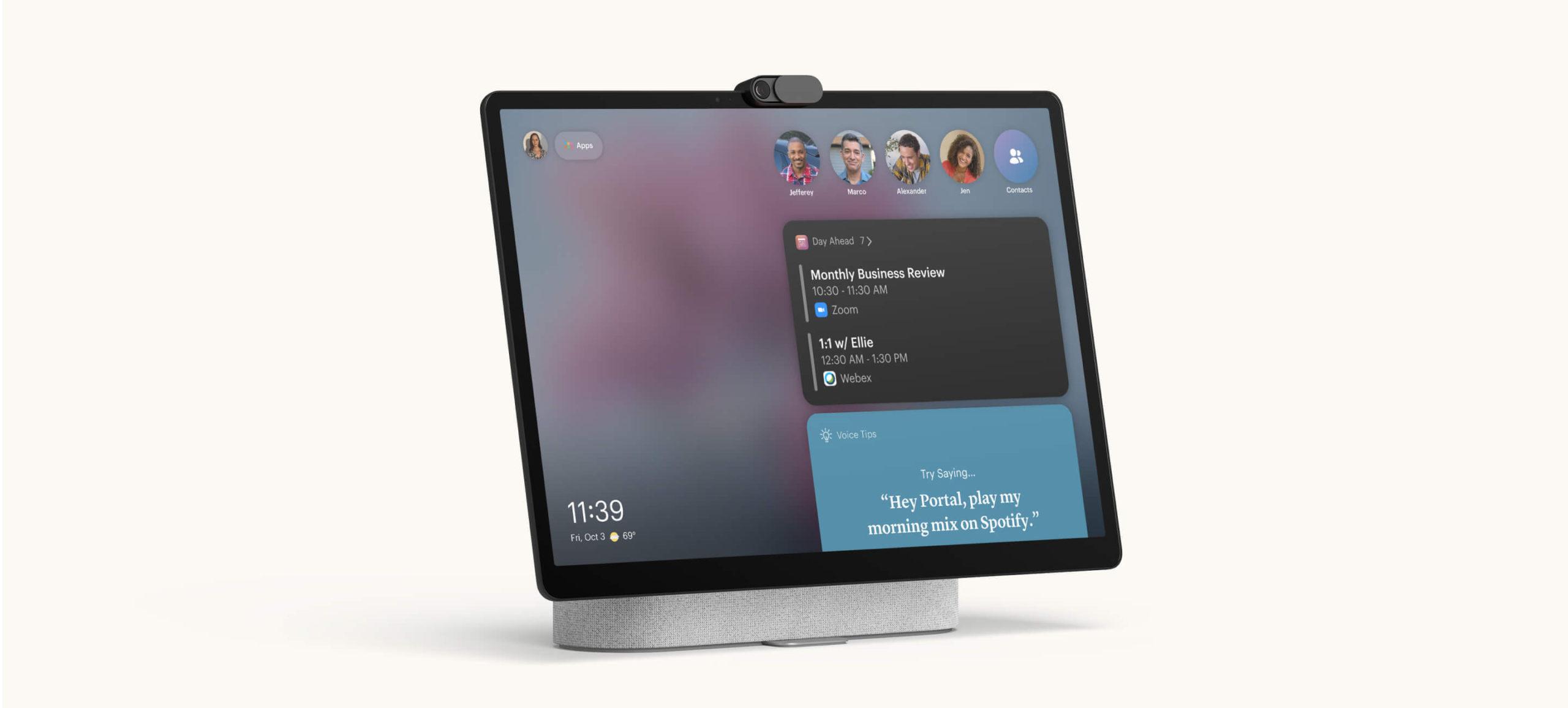 Facebook představil nová zařízení Portal Go a Plus