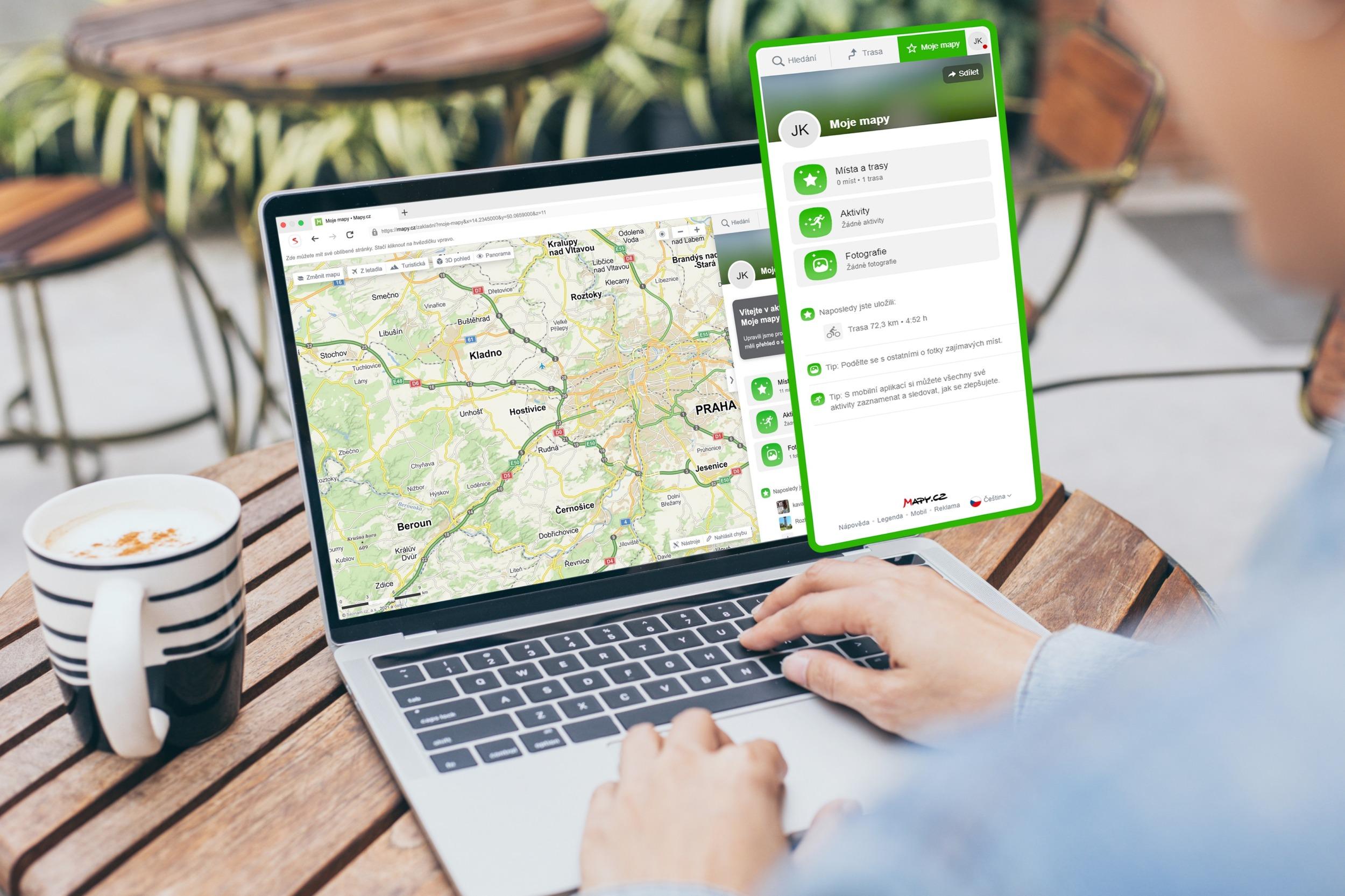 Aplikace Mapy.cz dostává profily pro uživatele