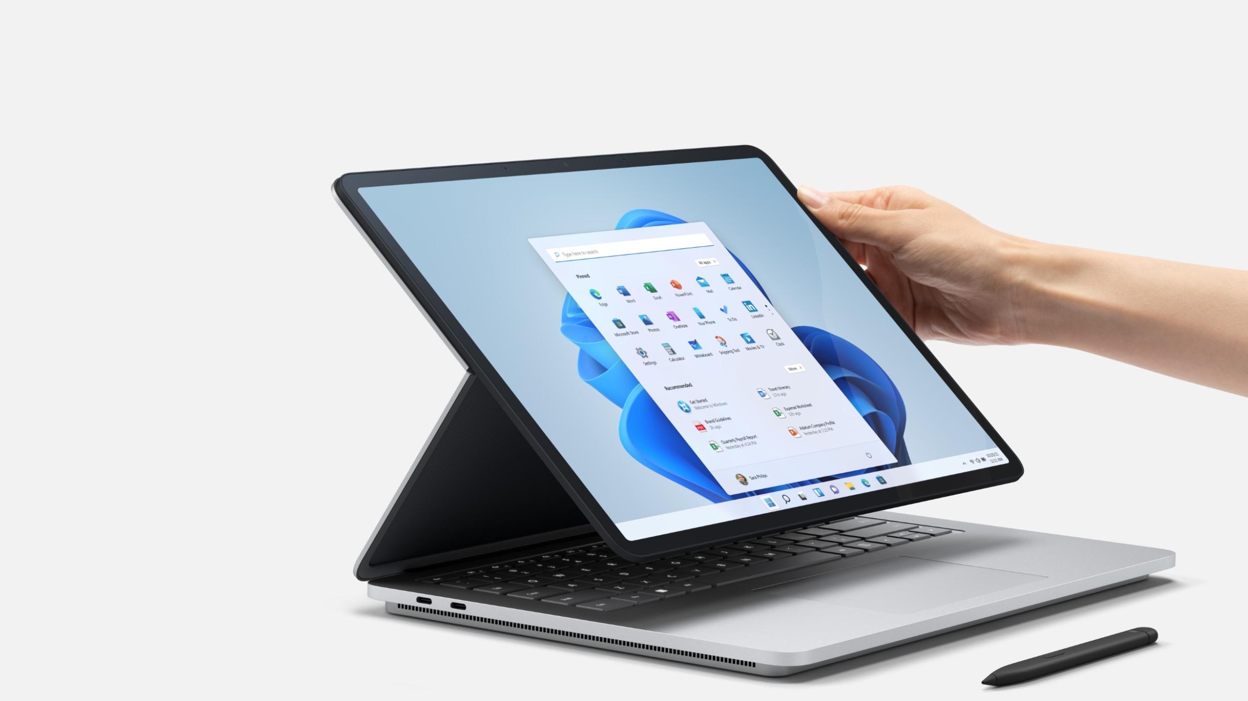 Surface Laptop Studio je novou výkladní skříní Microsoftu